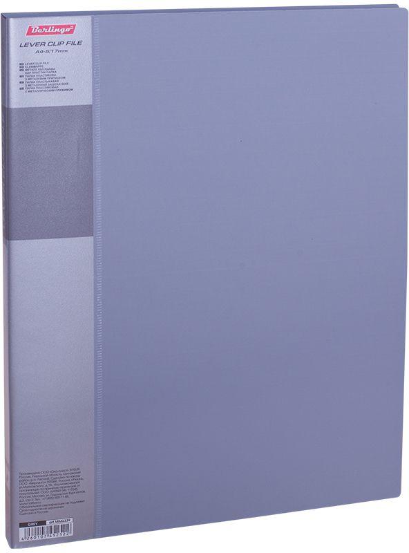 Berlingo Папка с зажимом Standard цвет серыйMM2339Папка позволяет хранить и переносить документы, защищает их от пыли. Металлический зажим надежно фиксирует документы, не повреждая их. Изготовлена из качественного плотного пластика. Дополнительный внутренний карман. Сменная этикетка на корешке для маркировки. Индивидуальная упаковка в пленку. В ассортименте классические офисные цвета.
