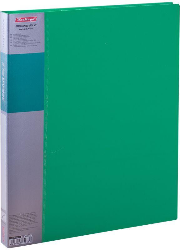 Berlingo Папка-скоросшиватель Standard цвет зеленыйMH2332Папка с зажимом Diamond позволяет хранить и переносить документы, защищает их от пыли. Пружинный механизм из металла надежно фиксирует документы. Позволяет хранить документы формата А4. Подходит как для перфорированных документов, так и для папок-вкладышей со стандартной перфорацией. Изготовлена из плотного пластика. Классические офисные цвета в ассортименте. В корешок папки вставляется лист для описания и названия, внутри папки имеется кармашек для мелких бумаг.