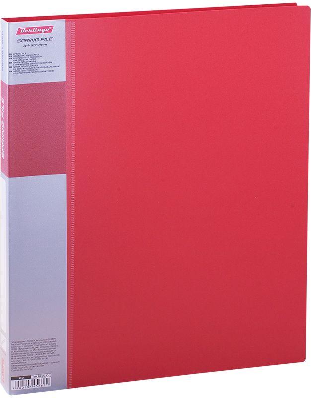 Berlingo Папка-скоросшиватель Standard цвет красныйMH2333Для хранения перфорированных документов А4. Пружинный механизм. Материал - плотный пластик, надежно защищает документы от пыли, заломов. Дополнительный внутренний карман для бумажных мелочей. Сменная этикетка на корешке для маркировки. Цвета в ассортименте. Индивидуальная упаковка в пленку.