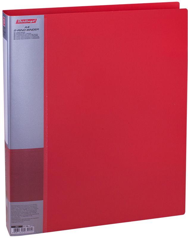 Berlingo Папка на 2-х кольцах Standard цвет красный ABp_24103ABp_24103Для хранения перфорированных документов, изготовлена из пластика. Кольцевой механизм надежно держит документы. В ассортименте классические офисные цвета.