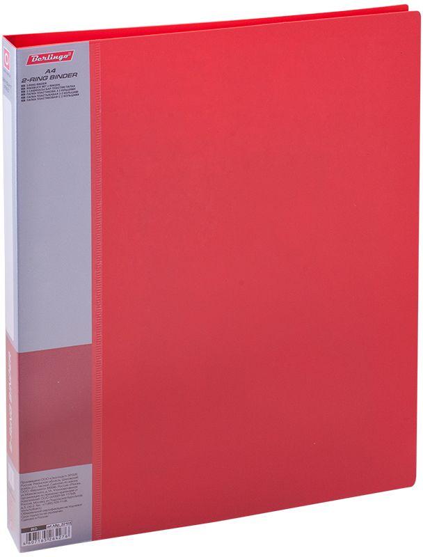Berlingo Папка на 2-х кольцах Standard цвет красныйABp_22103Папка на 2-х кольцах Standard для хранения перфорированных документов изготовлена из пластика. Кольцевой механизм надежно держит документы и файлы. В корешок папки вставляется лист для описания и названия. Классические офисные цвета в ассортименте.