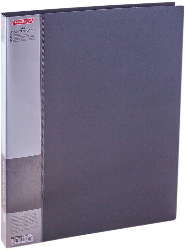 Berlingo Папка на 2-х кольцах Standard цвет черный ABp_22101ABp_22101Для хранения перфорированных документов, изготовлена из пластика. Кольцевой механизм надежно держит документы. В ассортименте классические офисные цвета.
