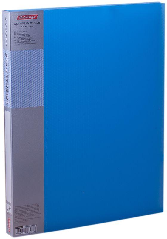 Berlingo Папка с зажимом Diamond цвет синийACp_01002Папка позволяет хранить и переносить документы, защищает их от пыли. Металлический зажим надежно фиксирует документы, не повреждая их. Изготовлена из качественного плотного пластика. В ассортименте полупрозрачные цвета.