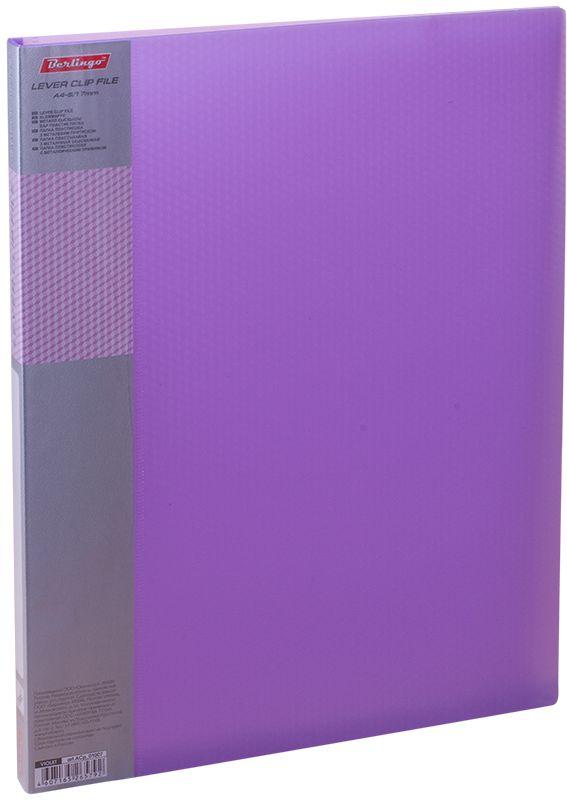 Berlingo Папка с зажимом Diamond цвет фиолетовый