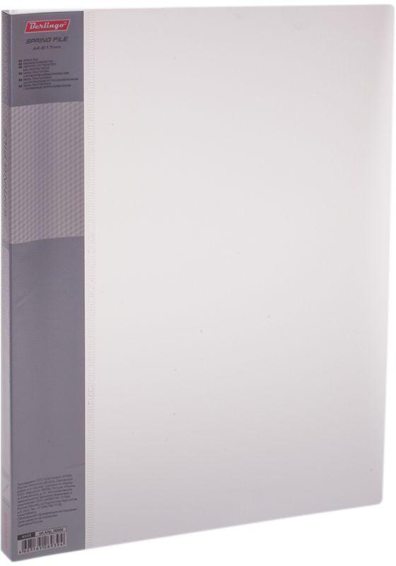 Berlingo Папка-скоросшиватель Diamond цвет белыйAHp_00000Папка с зажимом Diamond позволяет хранить и переносить документы, защищает их от пыли. Пружинный механизм из металла надежно фиксирует документы. Позволяет хранить документы формата А4. Подходит как для перфорированных документов, так и для папок-вкладышей со стандартной перфорацией. Изготовлена из плотного полупрозрачного пластика. Классические офисные цвета в ассортименте. Обложка папки оформлена легким голографическим принтом в кубик. В корешок папки вставляется лист для описания и названия.