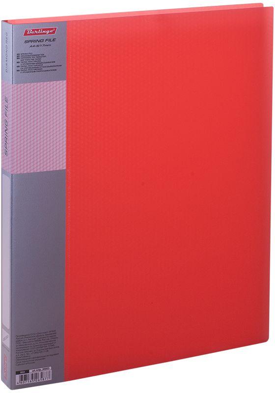 Berlingo Папка-скоросшиватель Diamond цвет прозрачный красный