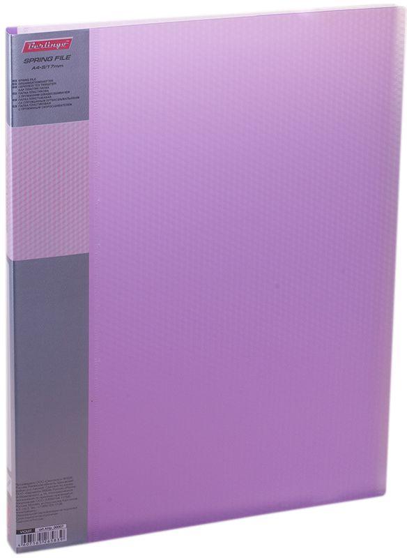 Berlingo Папка-скоросшиватель Diamond цвет прозрачный фиолетовый