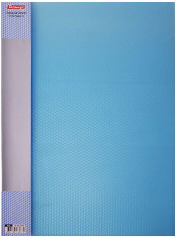 Berlingo Папка Diamond с 30 вкладышами цвет синийAVp_30002Папка с прозрачными листами-карманами рекомендуется для хранения материалов и документов, требующих упорядоченности и наглядного обзора. Документам не требуется перфорация дыроколом. Формат А4. Классические офисные цвета.
