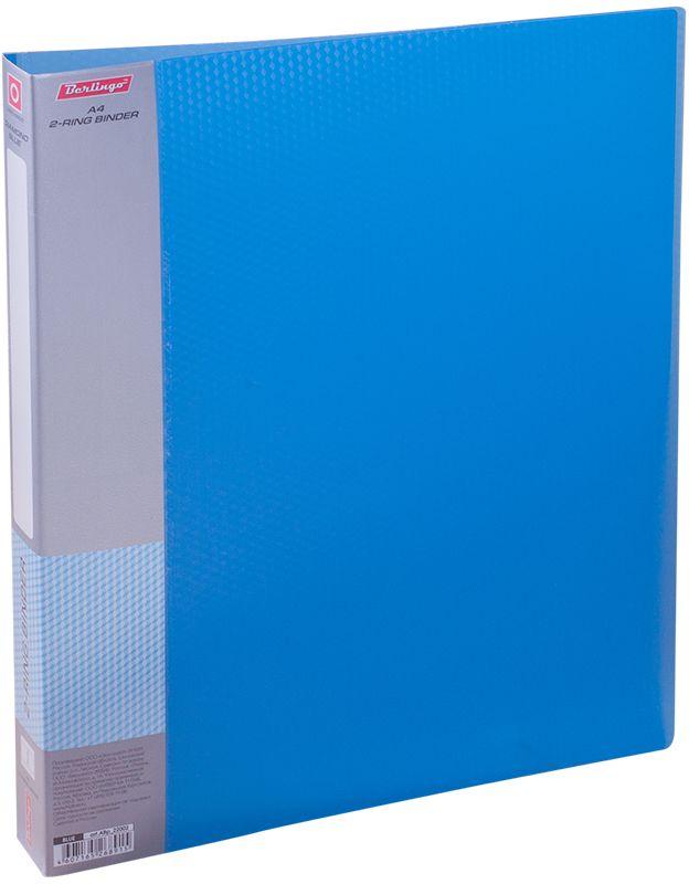 Berlingo Папка на 2-х кольцах Diamond цвет синийABp_22002Для хранения перфорированных документов, изготовлена из пластика. Кольцевой механизм надежно держит документы. В ассортименте классические офисные цвета.
