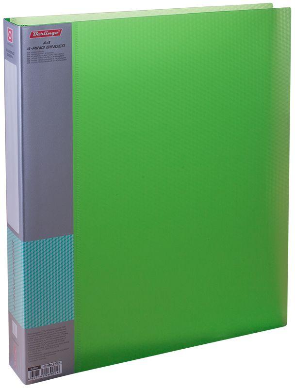 Berlingo Папка на 4-х кольцах Diamond цвет зеленыйABp_44004Для хранения перфорированных документов, изготовлена из пластика. Кольцевой механизм надежно держит документы. В ассортименте классические офисные цвета.