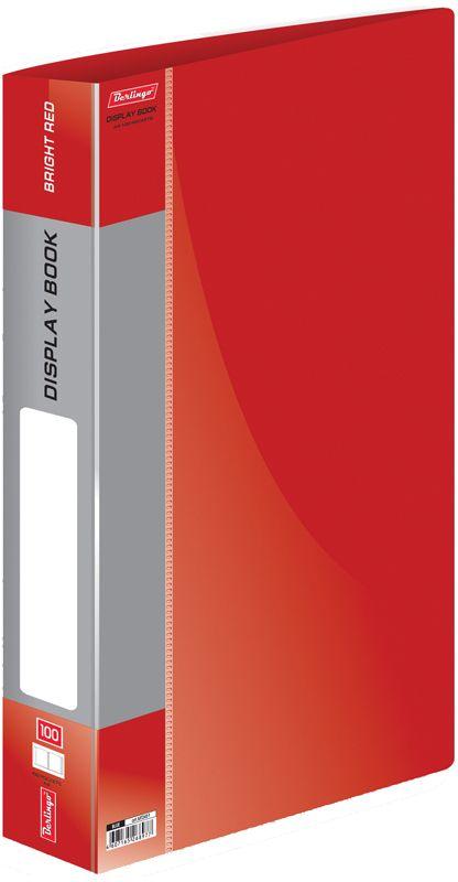 Berlingo Папка Standard со 100 вкладышами цвет красныйMT2451Функциональная папка «Standard» с прозрачными вкладышами удобна для хранения и демонстрации документов А4. На папках предусмотрена сменная этикетка на корешке для маркировки. Изготовлены из фактурного полупрозрачного пластика. Индивидуальная упаковка в пакет. Изготовлена из плотного пластика (толщина - 0,8 мм). Ширина корешка - 30 мм.