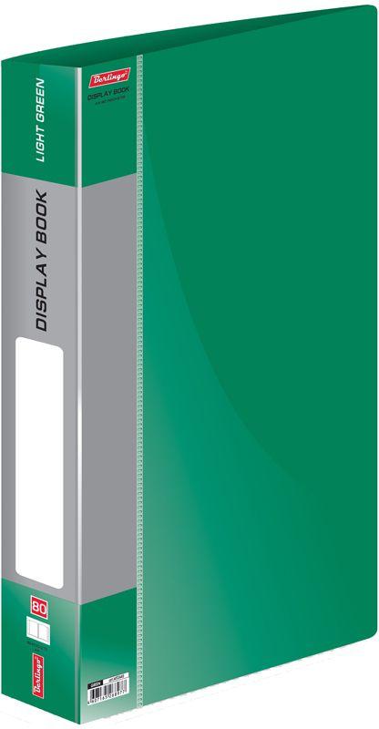 Berlingo Папка Standard с 80 вкладышами цвет зеленыйMT2445Папка пластиковая с файлами, 80 вкладышей. Формат А4. Цвета в ассортименте.