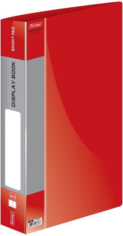 Berlingo Папка Standard с 80 вкладышами цвет красныйMT2446Папка пластиковая с файлами, 80 вкладышей. Формат А4. Цвета в ассортименте.