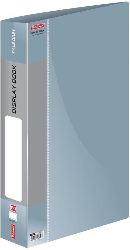 Berlingo Папка Standard с 80 вкладышами цвет серыйMT2447Изготовлена из плотного пластика (толщина - 0,8 мм). Ширина корешка - 30 мм.