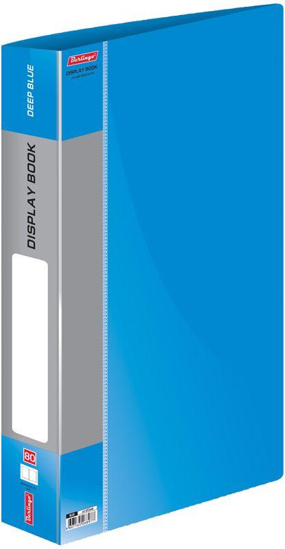 Berlingo Папка Standard с 80 вкладышами цвет синийMT2448Папка пластиковая с файлами, 80 вкладышей. Формат А4. Цвета в ассортименте.
