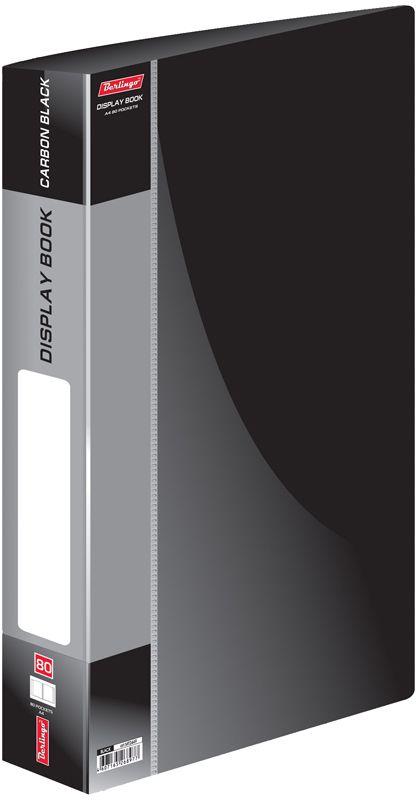 Berlingo Папка Standard с 80 вкладышами цвет черныйMT2449Папка пластиковая с файлами, 80 вкладышей. Формат А4. Цвета в ассортименте.