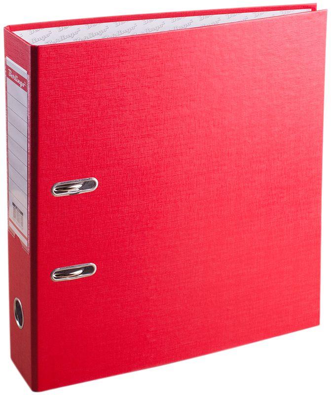 Berlingo Папка-регистратор цвет красный AM4511AM4511Обложка из жесткого износостойкого картона с односторонним покрытием из бумвинила. Конструкция разработана с учетом всех особенностей эксплуатации. Выгодно отличаются надежным арочным механизмом из качественного металла, наличием кармана на корешке со сменным информационным ярлыком для маркировки, полем для записей на внутренней стороне обложки, отверстием для удобного снятия папки с полки. Цвета в ассортименте.