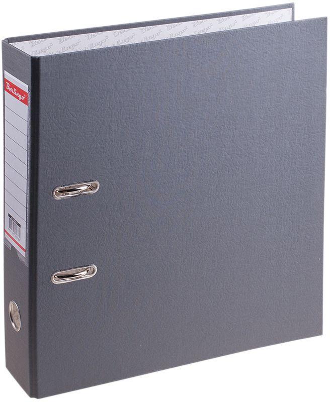 Berlingo Папка-регистратор цвет серый AM4514AM4514Обложка из жесткого износостойкого картона с односторонним покрытием из бумвинила. Конструкция разработана с учетом всех особенностей эксплуатации. Выгодно отличаются надежным арочным механизмом из качественного металла, наличием кармана на корешке со сменным информационным ярлыком для маркировки, полем для записей на внутренней стороне обложки, отверстием для удобного снятия папки с полки. Цвета в ассортименте.