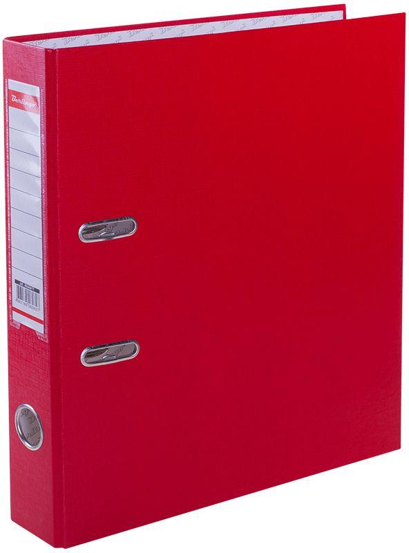Berlingo Папка-регистратор цвет красныйAM4611Обложка из жесткого износостойкого картона с односторонним покрытием из бумвинила. Конструкция разработана с учетом всех особенностей эксплуатации. Выгодно отличаются надежным арочным механизмом из качественного металла, наличием кармана на корешке со сменным информационным ярлыком для маркировки, полем для записей на внутренней стороне обложки, отверстием для удобного снятия папки с полки.