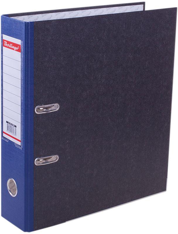 Berlingo Папка-регистратор цвет мраморный синий ATm_70502ATm_70502Папки-регистраторы с арочным механизмом из жесткого износостойкого картона. Эффективно экономят офисное пространство, идеальны для создания архива. Выгодно отличаются полем для записей на внутренней стороне обложки, наличием кармана на корешке со сменным информационным ярлыком для маркировки, металлической окантовкой по нижней грани.