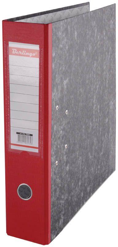 Berlingo Папка-регистратор цвет мраморный красный ATm_70503ATm_70503Папки-регистраторы с арочным механизмом из жесткого износостойкого картона. Эффективно экономят офисное пространство, идеальны для создания архива. Выгодно отличаются полем для записей на внутренней стороне обложки, наличием кармана на корешке со сменным информационным ярлыком для маркировки, металлической окантовкой по нижней грани.
