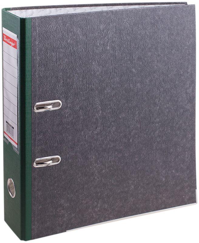 Berlingo Папка-регистратор цвет мраморный зеленый ATm_70504ATm_70504Папки-регистраторы с арочным механизмом из жесткого износостойкого картона. Эффективно экономят офисное пространство, идеальны для создания архива. Выгодно отличаются полем для записей на внутренней стороне обложки, наличием кармана на корешке со сменным информационным ярлыком для маркировки, металлической окантовкой по нижней грани.