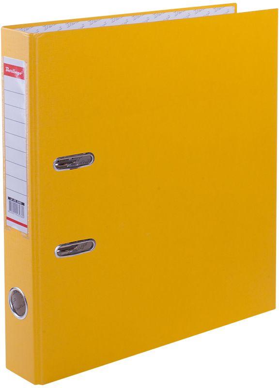 Berlingo Папка-регистратор цвет желтыйATb_50405Папки-регистраторы с арочным механизмом из жесткого износостойкого картона. Эффективно экономят офисное пространство, идеальны для создания архива. Выгодно отличаются полем для записей на внутренней стороне обложки, наличием кармана на корешке со сменным информационным ярлыком для маркировки