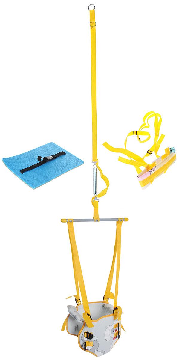 Фея Тренажер-прыгунки 4 в 1 цвет серый желтый