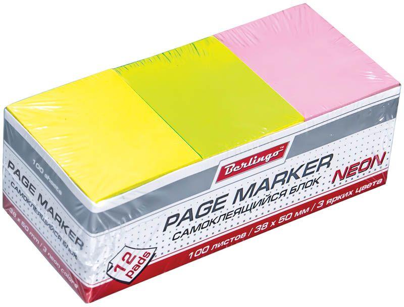 Berlingo Бумага для заметок с липким слоем неоновая 3,8 х 5 см 12 блоков по 100 листовLsn_38511Блок бумаги с клеевым краем рассчитанный на крепление к любой поверхности, не оставляет следов. Насыщенные неоновые цвета. Размер блока - 38 ? 50 мм. Упаковка 12 блоков по 100 листов.