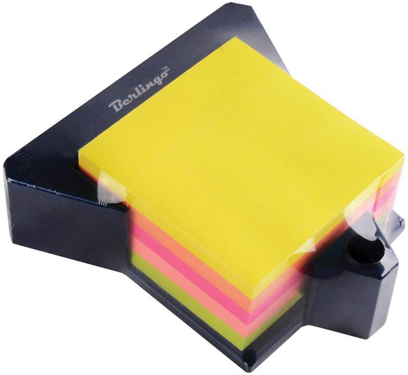 Berlingo Бумага для заметок с липким слоем цвет цветная на подставке 7,6 х 7,6 см 100 листовLSz_76769
