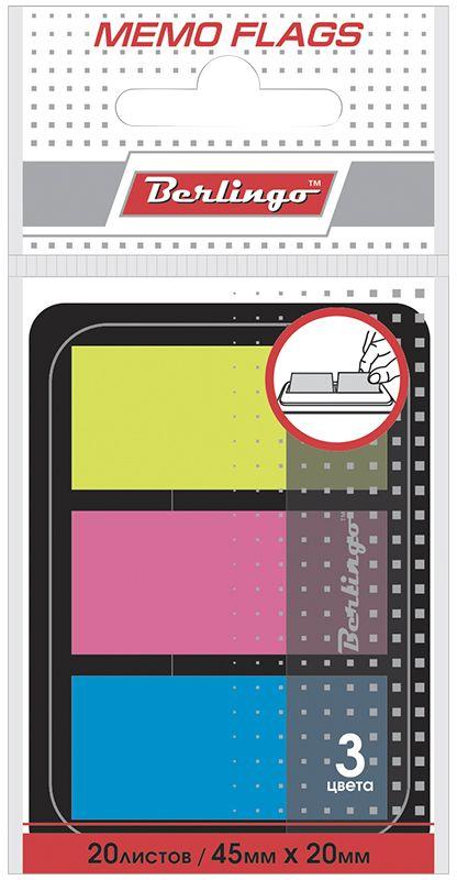 Berlingo Блок-закладка с липким слоем 2 х 4,5 см 20 листовLSz_45201Самоклеящиеся пластиковые полупрозрачные флажки-закладки ярких неоновых цветов, упакованные в пластиковый диспенсер. Удобно извлекаются одной рукой. Подходят для крепления на любой поверхности. Легко отклеиваются не оставляя следов. В блоке 20 листов.