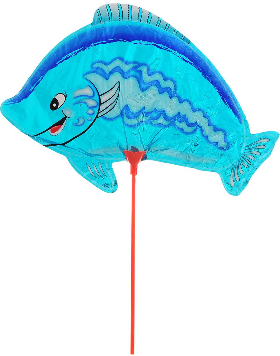 Сима-ленд Sima-land Воздушный шарик Рыбка 10 с палочкой цвет голубой 331166_голубой