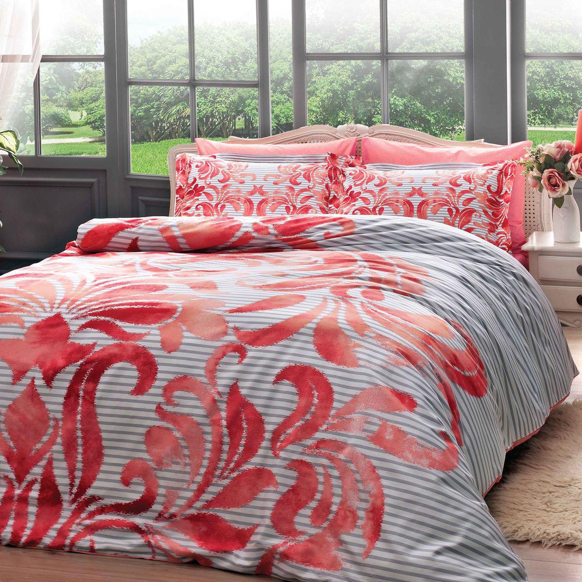 Комплект белья TAC Fabrice, 2-спальный, наволочки 50х70 см4245-35717Показатель должного внимания. Выбирая Satin Delux, Вы выбираете престиж. Эксклюзивность и непревзойденность в деталях пошива и дизайне.Сатин – гладкая и прочная ткань, которая своим блеском, легкостью и гладкостью похожа на шелк, но выгодно отличается от него в цене. Сатин практически не мнется, поэтому его можно не гладить. Ко всему прочему, он весьма практичен, т.к. хорошо переносит множественные стирки. Если Вы ценитель эстетики и практичности одновременно, безусловно, сатин для Вас!