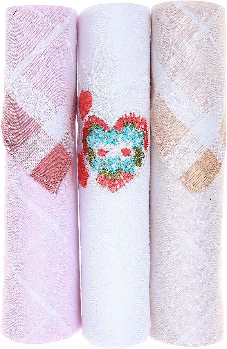 Платок носовой женский Zlata Korunka, цвет: розовый, белый, бежевый, 3 шт. 40423-14. Размер 28 см х 28 см40423-14Небольшой женский носовой платок Zlata Korunka изготовлен из высококачественного натурального хлопка, благодаря чему приятен в использовании, хорошо стирается, не садится и отлично впитывает влагу. Практичный и изящный носовой платок будет незаменим в повседневной жизни любого современного человека. Такой платок послужит стильным аксессуаром и подчеркнет ваше превосходное чувство вкуса. В комплекте 3 платка.