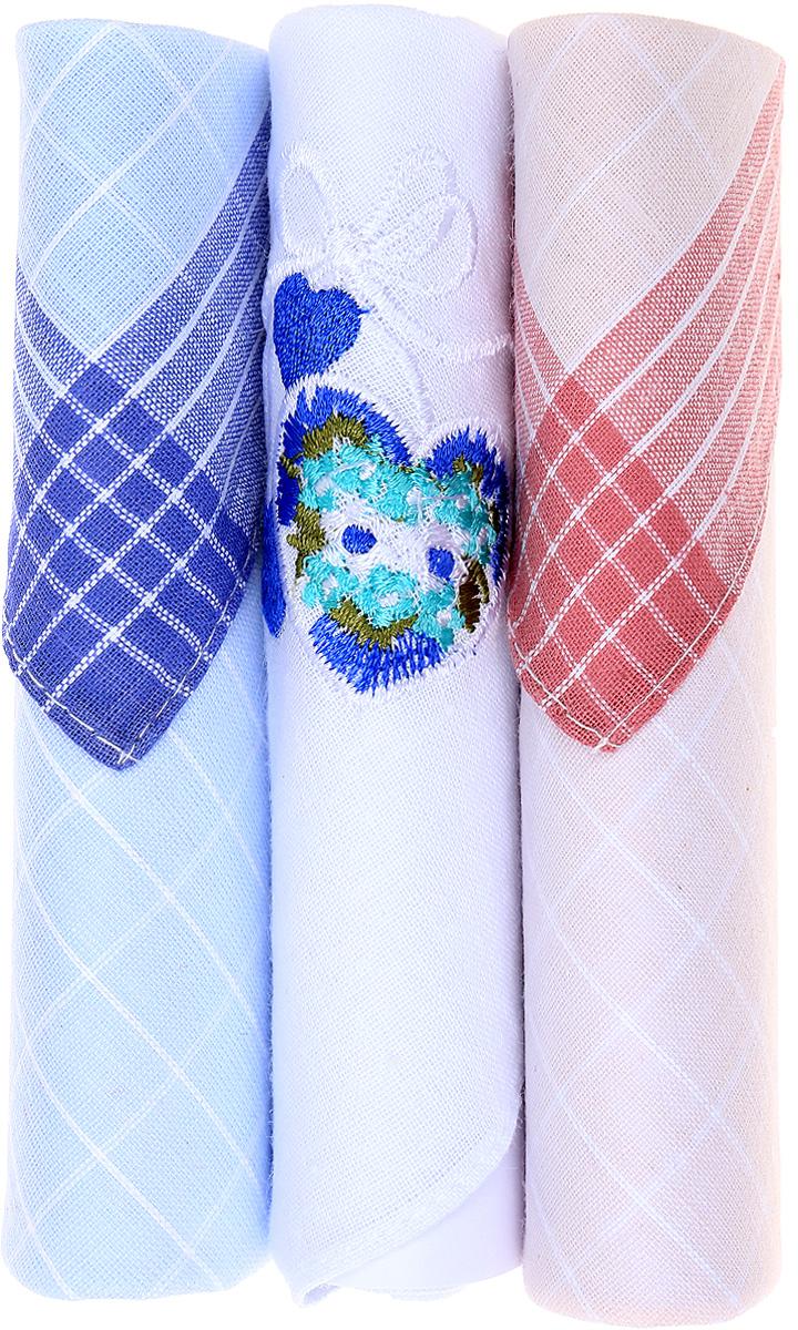 Платок носовой женский Zlata Korunka, цвет: голубой, белый, розовый, 3 шт. 40423-19. Размер 28 см х 28 см40423-19Небольшой женский носовой платок Zlata Korunka изготовлен из высококачественного натурального хлопка, благодаря чему приятен в использовании, хорошо стирается, не садится и отлично впитывает влагу. Практичный и изящный носовой платок будет незаменим в повседневной жизни любого современного человека. Такой платок послужит стильным аксессуаром и подчеркнет ваше превосходное чувство вкуса. В комплекте 3 платка.