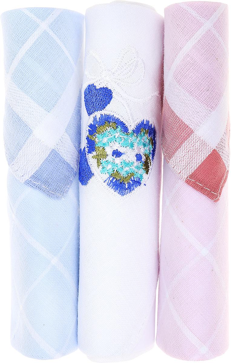Платок носовой женский Zlata Korunka, цвет: голубой, белый, розовый, 3 шт. 40423-13. Размер 28 см х 28 см40423-13Небольшой женский носовой платок Zlata Korunka изготовлен из высококачественного натурального хлопка, благодаря чему приятен в использовании, хорошо стирается, не садится и отлично впитывает влагу. Практичный и изящный носовой платок будет незаменим в повседневной жизни любого современного человека. Такой платок послужит стильным аксессуаром и подчеркнет ваше превосходное чувство вкуса. В комплекте 3 платка.