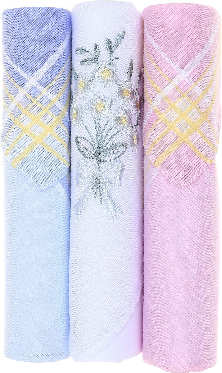 Платок носовой женский Zlata Korunka, цвет: голубой, белый, розовый, 3 шт. 40423-114. Размер 28 см х 28 см40423-114Небольшой женский носовой платок Zlata Korunka изготовлен из высококачественного натурального хлопка, благодаря чему приятен в использовании, хорошо стирается, не садится и отлично впитывает влагу. Практичный и изящный носовой платок будет незаменим в повседневной жизни любого современного человека. Такой платок послужит стильным аксессуаром и подчеркнет ваше превосходное чувство вкуса. В комплекте 3 платка.
