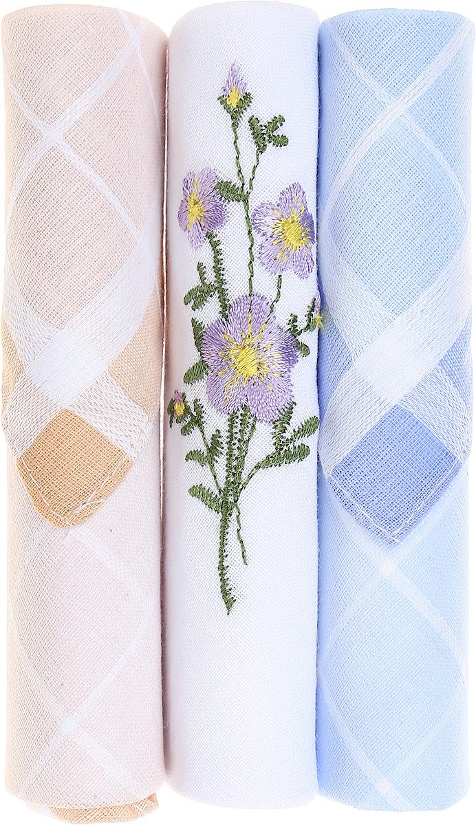 Платок носовой женский Zlata Korunka, цвет: бежевый, белый, голубой, 3 шт. 40423-83. Размер 28 см х 28 см40423-83Небольшой женский носовой платок Zlata Korunka изготовлен из высококачественного натурального хлопка, благодаря чему приятен в использовании, хорошо стирается, не садится и отлично впитывает влагу. Практичный и изящный носовой платок будет незаменим в повседневной жизни любого современного человека. Такой платок послужит стильным аксессуаром и подчеркнет ваше превосходное чувство вкуса. В комплекте 3 платка.