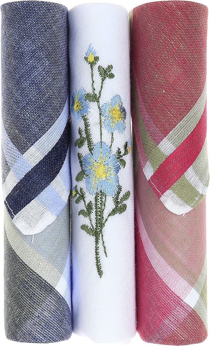 Платок носовой женский Zlata Korunka, цвет: темно-синий, белый, красный, 3 шт. 40423-96. Размер 28 см х 28 см40423-96Небольшой женский носовой платок Zlata Korunka изготовлен из высококачественного натурального хлопка, благодаря чему приятен в использовании, хорошо стирается, не садится и отлично впитывает влагу. Практичный и изящный носовой платок будет незаменим в повседневной жизни любого современного человека. Такой платок послужит стильным аксессуаром и подчеркнет ваше превосходное чувство вкуса. В комплекте 3 платка.