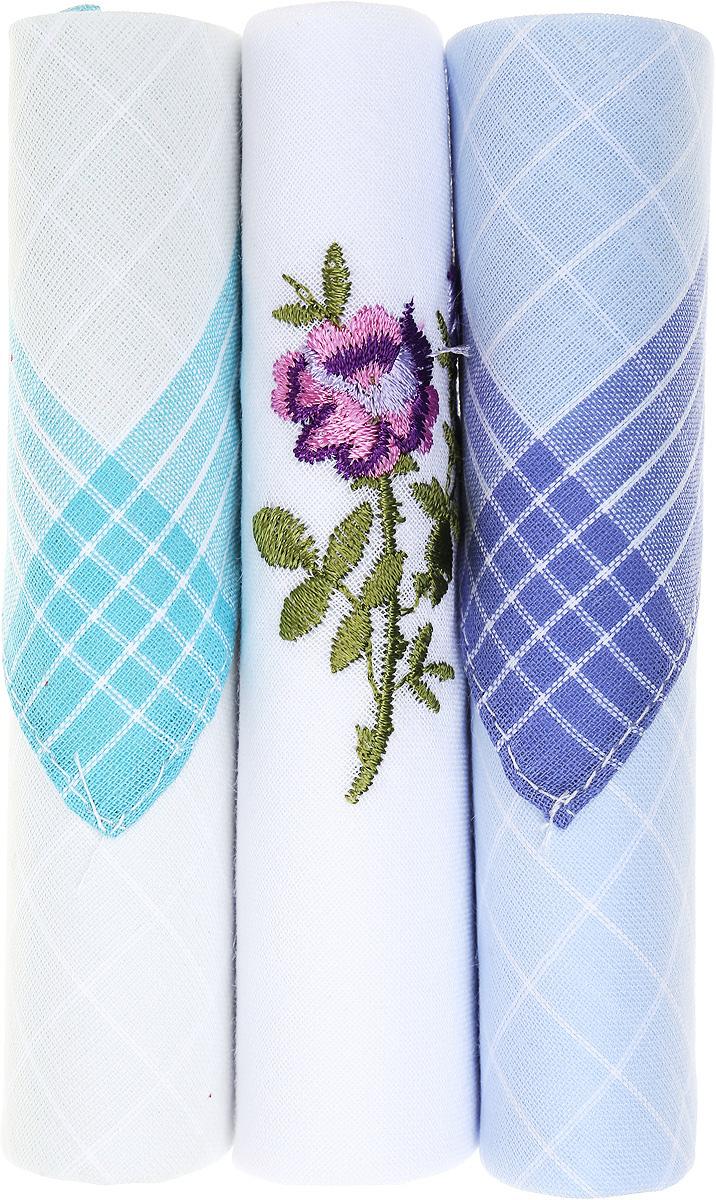 Платок носовой женский Zlata Korunka, цвет: бирюзовый, белый, голубой, 3 шт. 40423-90. Размер 28 см х 28 см40423-90Небольшой женский носовой платок Zlata Korunka изготовлен из высококачественного натурального хлопка, благодаря чему приятен в использовании, хорошо стирается, не садится и отлично впитывает влагу. Практичный и изящный носовой платок будет незаменим в повседневной жизни любого современного человека. Такой платок послужит стильным аксессуаром и подчеркнет ваше превосходное чувство вкуса. В комплекте 3 платка.