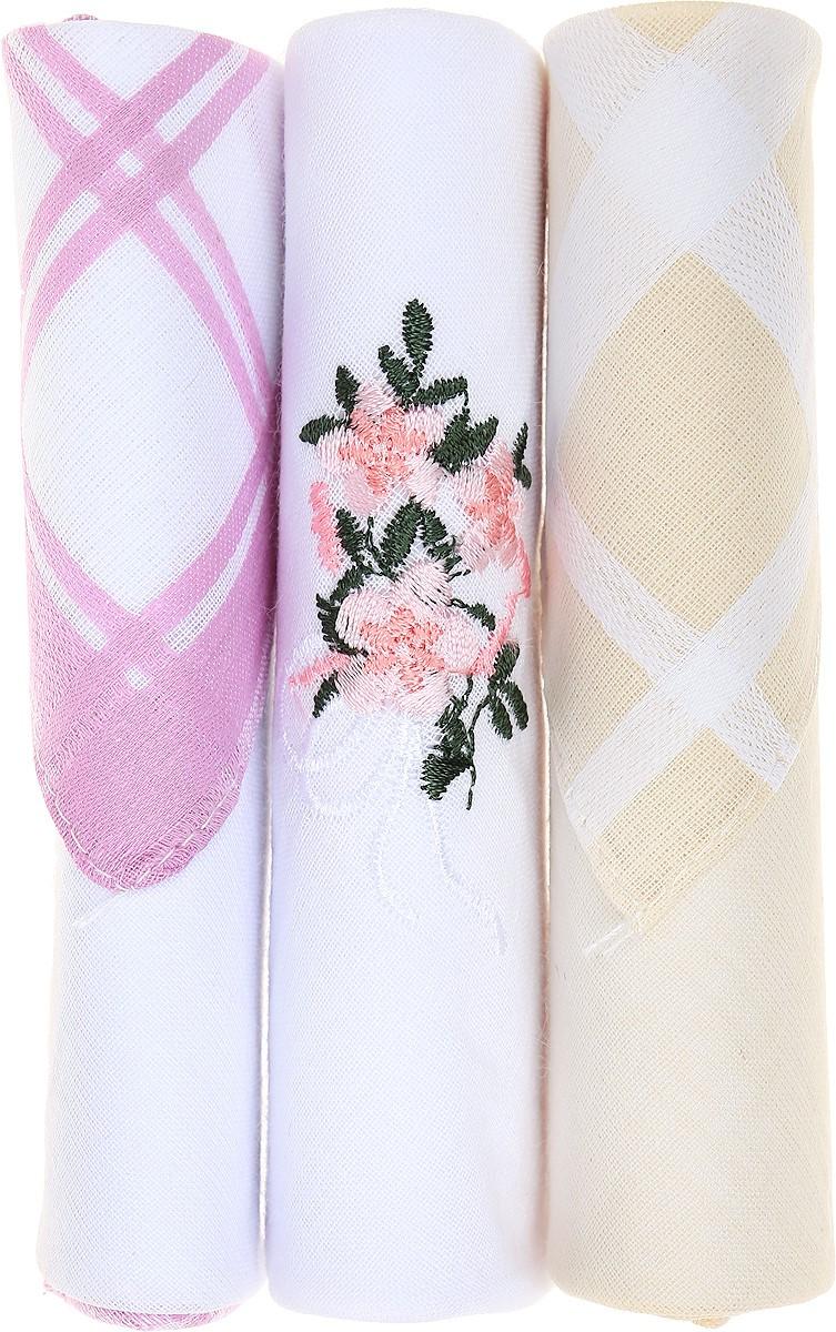 Платок носовой женский Zlata Korunka, цвет: розовый, белый, желтый, 3 шт. 40423-11. Размер 28 см х 28 см40423-11Небольшой женский носовой платок Zlata Korunka изготовлен из высококачественного натурального хлопка, благодаря чему приятен в использовании, хорошо стирается, не садится и отлично впитывает влагу. Практичный и изящный носовой платок будет незаменим в повседневной жизни любого современного человека. Такой платок послужит стильным аксессуаром и подчеркнет ваше превосходное чувство вкуса. В комплекте 3 платка.