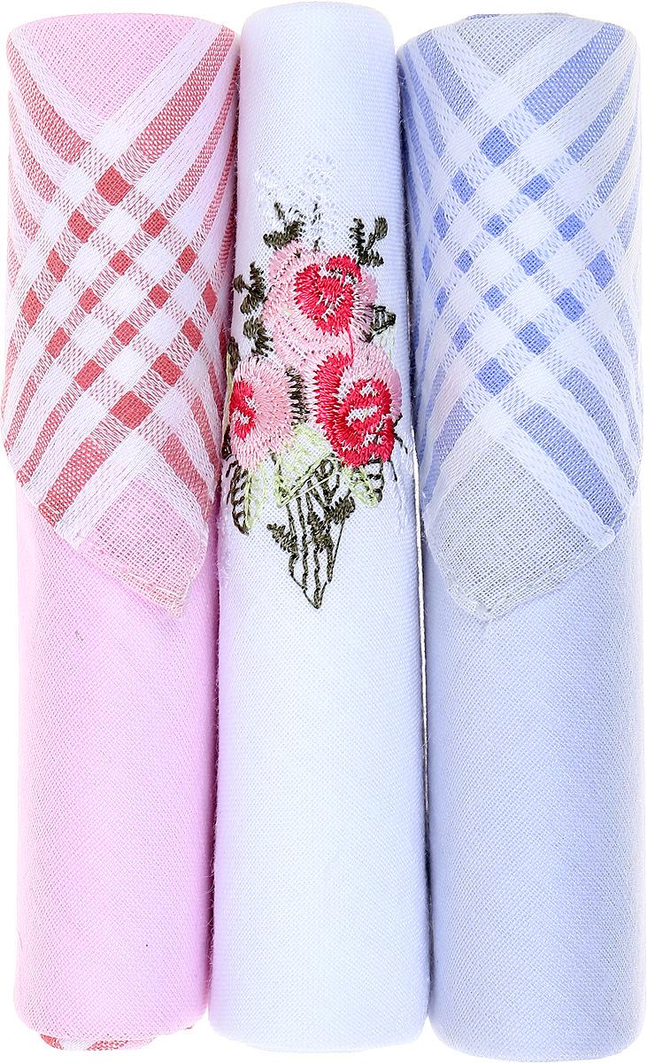 Платок носовой женский Zlata Korunka, цвет: розовый, белый, голубой, 3 шт. 40423-8. Размер 28 см х 28 см40423-8Небольшой женский носовой платок Zlata Korunka изготовлен из высококачественного натурального хлопка, благодаря чему приятен в использовании, хорошо стирается, не садится и отлично впитывает влагу. Практичный и изящный носовой платок будет незаменим в повседневной жизни любого современного человека. Такой платок послужит стильным аксессуаром и подчеркнет ваше превосходное чувство вкуса. В комплекте 3 платка.