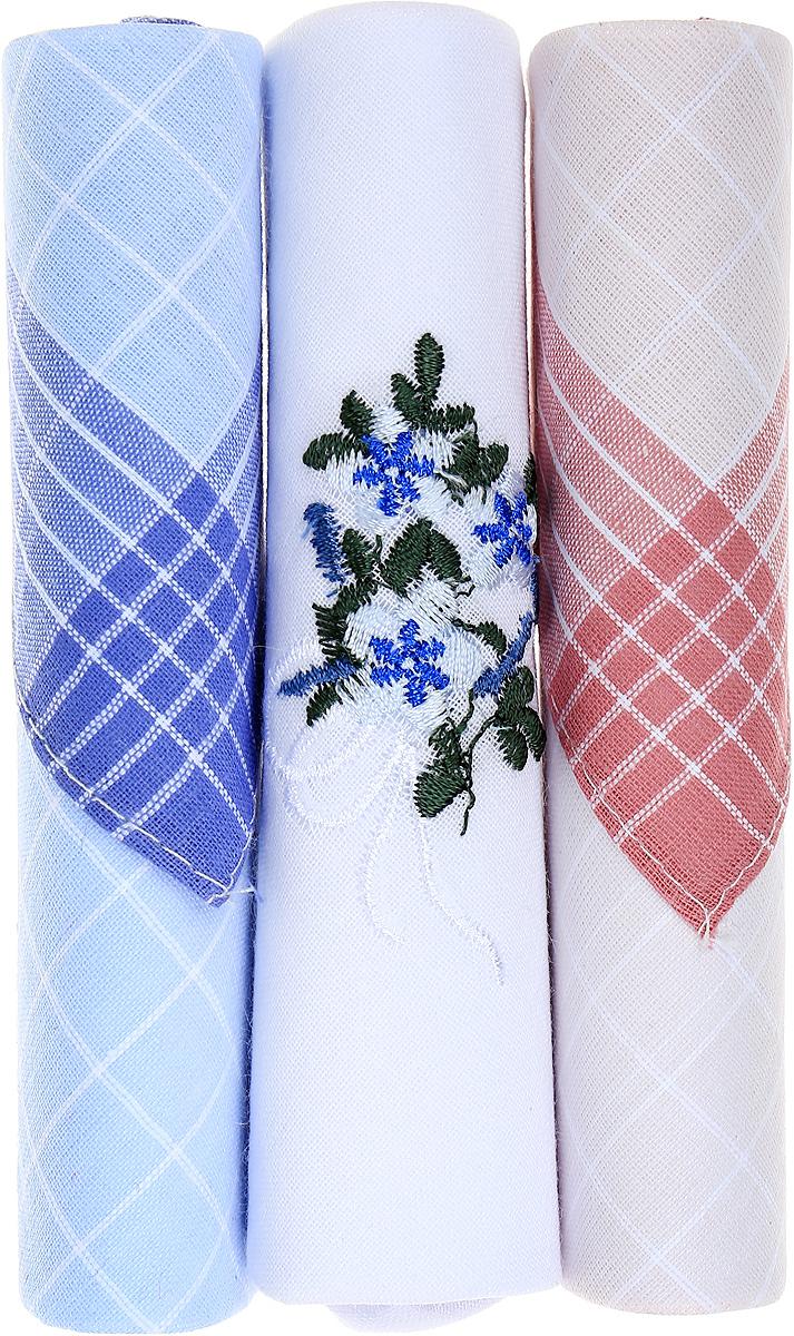 Платок носовой женский Zlata Korunka, цвет: голубой, белый, розовый, 3 шт. 40423-29. Размер 28 см х 28 см40423-29Небольшой женский носовой платок Zlata Korunka изготовлен из высококачественного натурального хлопка, благодаря чему приятен в использовании, хорошо стирается, не садится и отлично впитывает влагу. Практичный и изящный носовой платок будет незаменим в повседневной жизни любого современного человека. Такой платок послужит стильным аксессуаром и подчеркнет ваше превосходное чувство вкуса. В комплекте 3 платка.