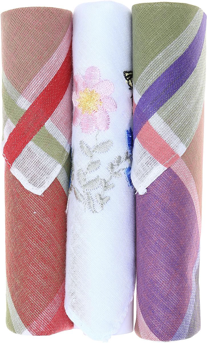 Платок носовой женский Zlata Korunka, цвет: коричневый, белый, зеленый, 3 шт. 40423-37. Размер 28 см х 28 см40423-37Небольшой женский носовой платок Zlata Korunka изготовлен из высококачественного натурального хлопка, благодаря чему приятен в использовании, хорошо стирается, не садится и отлично впитывает влагу. Практичный и изящный носовой платок будет незаменим в повседневной жизни любого современного человека. Такой платок послужит стильным аксессуаром и подчеркнет ваше превосходное чувство вкуса. В комплекте 3 платка.