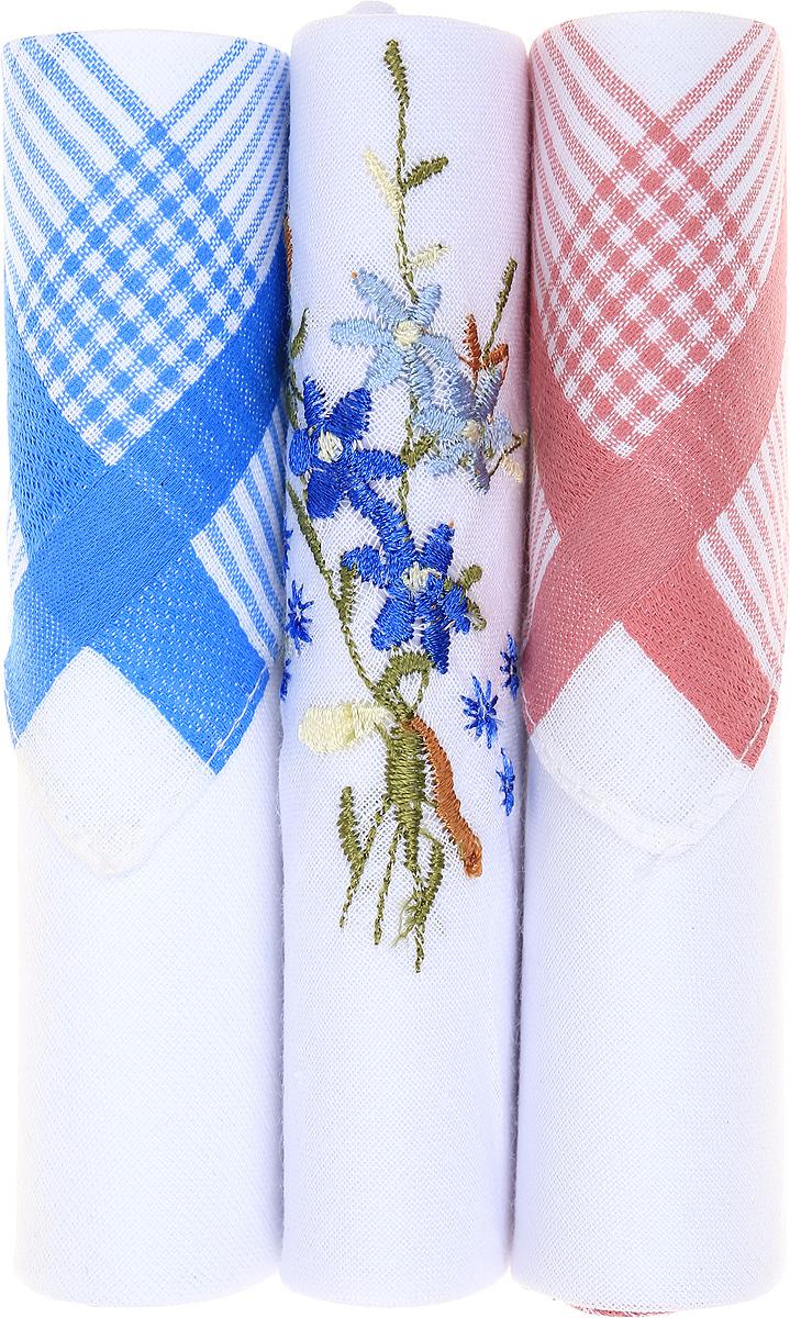 Платок носовой женский Zlata Korunka, цвет: голубой, белый, розовый, 3 шт. 40423-61. Размер 28 см х 28 см40423-61Небольшой женский носовой платок Zlata Korunka изготовлен из высококачественного натурального хлопка, благодаря чему приятен в использовании, хорошо стирается, не садится и отлично впитывает влагу. Практичный и изящный носовой платок будет незаменим в повседневной жизни любого современного человека. Такой платок послужит стильным аксессуаром и подчеркнет ваше превосходное чувство вкуса. В комплекте 3 платка.