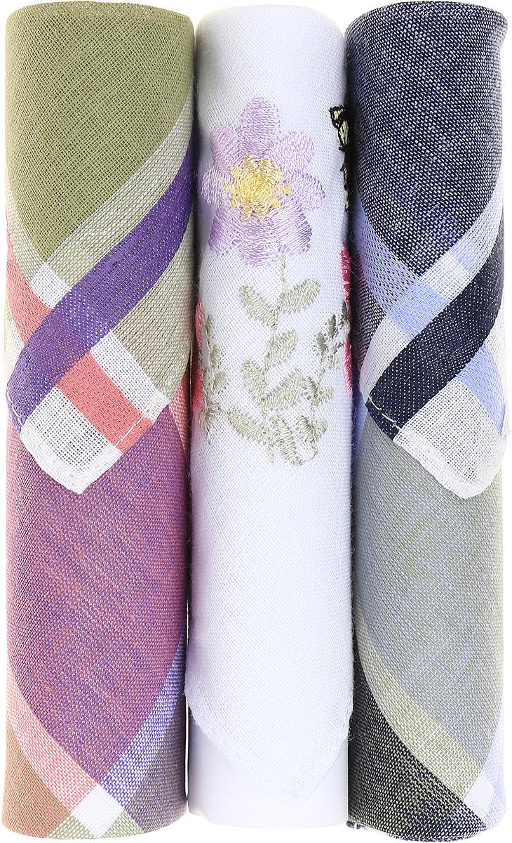 Платок носовой женский Zlata Korunka, цвет: зеленый, темно-синий, белый, 3 шт. 40423-38. Размер 28 см х 28 см40423-38Небольшой женский носовой платок Zlata Korunka изготовлен из высококачественного натурального хлопка, благодаря чему приятен в использовании, хорошо стирается, не садится и отлично впитывает влагу. Практичный и изящный носовой платок будет незаменим в повседневной жизни любого современного человека. Такой платок послужит стильным аксессуаром и подчеркнет ваше превосходное чувство вкуса. В комплекте 3 платка.