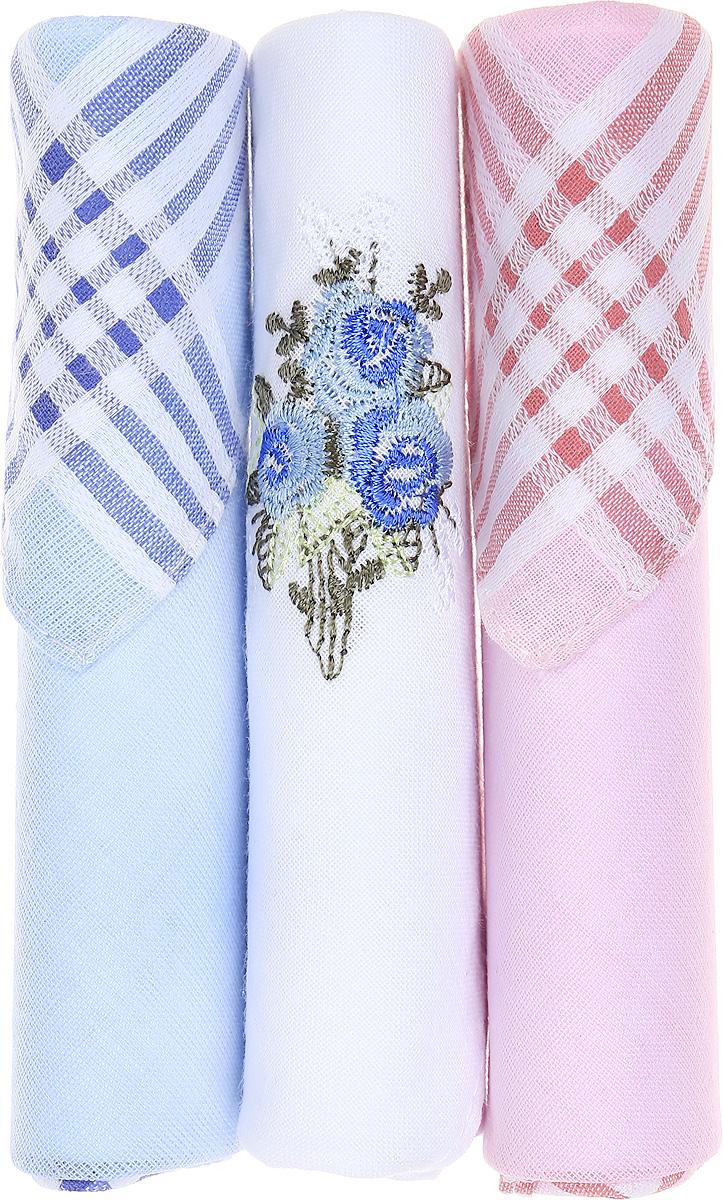 Платок носовой женский Zlata Korunka, цвет: голубой, белый, розовый, 3 шт. 40423-7. Размер 28 см х 28 см40423-7Небольшой женский носовой платок Zlata Korunka изготовлен из высококачественного натурального хлопка, благодаря чему приятен в использовании, хорошо стирается, не садится и отлично впитывает влагу. Практичный и изящный носовой платок будет незаменим в повседневной жизни любого современного человека. Такой платок послужит стильным аксессуаром и подчеркнет ваше превосходное чувство вкуса. В комплекте 3 платка.