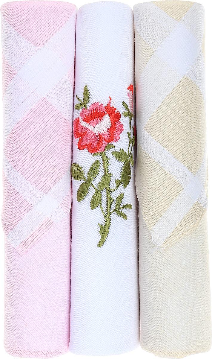 Платок носовой женский Zlata Korunka, цвет: розовый, белый, бежевый, 3 шт. 40423-85. Размер 28 см х 28 см40423-85Небольшой женский носовой платок Zlata Korunka изготовлен из высококачественного натурального хлопка, благодаря чему приятен в использовании, хорошо стирается, не садится и отлично впитывает влагу. Практичный и изящный носовой платок будет незаменим в повседневной жизни любого современного человека. Такой платок послужит стильным аксессуаром и подчеркнет ваше превосходное чувство вкуса. В комплекте 3 платка.