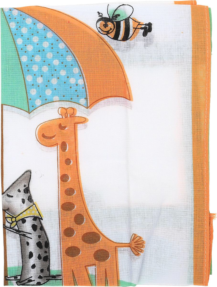 Платок носовой детский Zlata Korunka, цвет: белый, оранжевый, серый, 2 шт. 40232-1. Размер 25 см х 25 см40232-1Детский носовой платок Zlata Korunka изготовлен из высококачественного натурального хлопка, благодаря чему приятен в использовании, хорошо стирается, не садится и отлично впитывает влагу, а также не раздражает нежную детскую кожу. Небольшой и практичный детский платочек без труда поместится в карман или школьный рюкзак ребенка и всегда будет под рукой. В комплекте 2 платка.