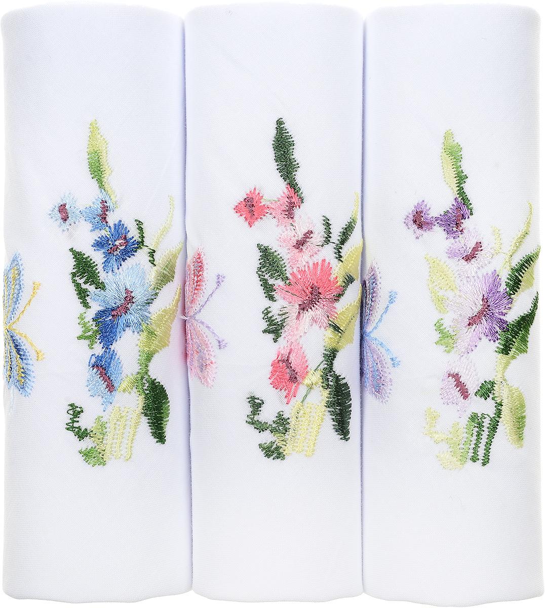 Платок носовой женский Zlata Korunka, цвет: белый, мультиколор, 3 шт. 40320-8. Размер 43 см х 43 см40320-8Оригинальный женский носовой платок Zlata Korunka изготовлен из высококачественного натурального хлопка, благодаря чему приятен в использовании, хорошо стирается, не садится и отлично впитывает влагу. Практичный и изящный носовой платок будет незаменим в повседневной жизни любого современного человека. Такой платок послужит стильным аксессуаром и подчеркнет ваше превосходное чувство вкуса.